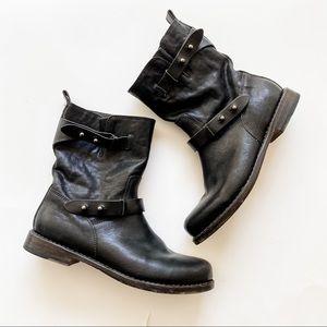 rag & bone Black Leather Moto Boot